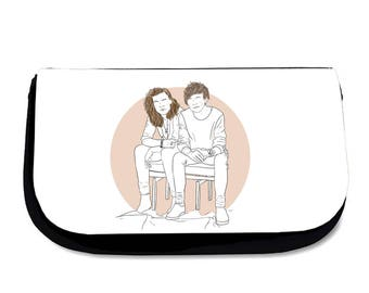 Better Together Makeup Bag Pencil Case Wash Bag One Direction Harry Styles Louis Tomlinson Larry Stylinson Cosmetics Travel
