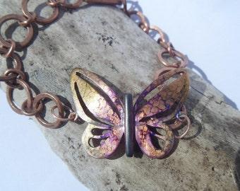 Copper butterfly bracelet, copper bracelet, butterfly bracelet, contemporary copper jewelry, contemporary bracelet, copper jewelry