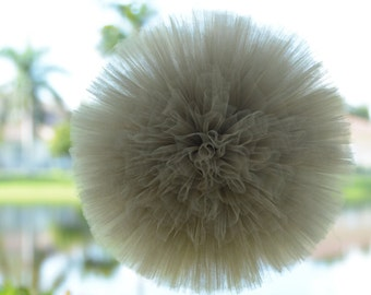 "Buy 3 Old  Willow Tulle Pom or any color of choice large 12""and get 3 FREE 1 small 6"" and 2 x small 4 """