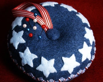 Made to order - Large Americana Pincushion  free usa ship
