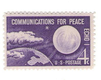 Unused 1960 Communications for Peace, ECHO I Vintage Postage Stamps Number 1173