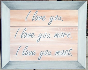 I love you more painting