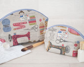 Sewing Gift Knitting Gift Crafters Gift Sewing Kit Makeup Toiletry Wash Bag