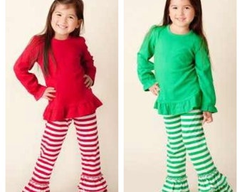 Ruffled pants, Birthday pants, girls ruffled pants, girls pants, girls striped pants, Girls ruffled birthday pants, st patricks pants
