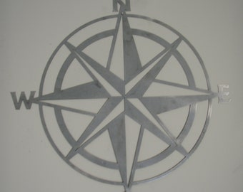 Metal Compass Rose Wall Hanging
