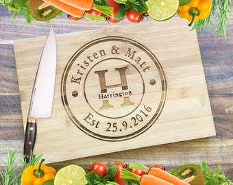 Couples Board - Personalised Engraved Bamboo Chopping Board