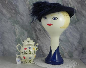 SPECIAL SALE-Wig Hat Stand From Orginal Stangl Mold