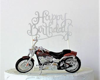 harley davidson road king wedding cake toppers harley davidson motorcycle cake topper happy birthday cake 15070
