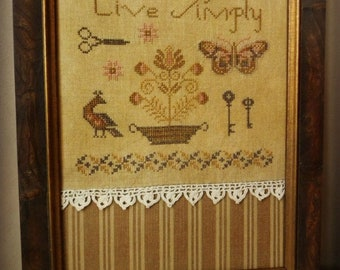 Primitive Cross Stitch Pattern - Live Simply