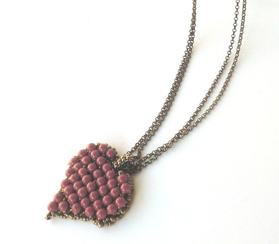 Red coral pendant heart pendant necklace swarovski pearl like this item aloadofball Images
