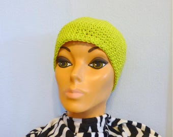 Unisex Cotton Beanie Hat Crochet Chemo Cap Choice of Colors