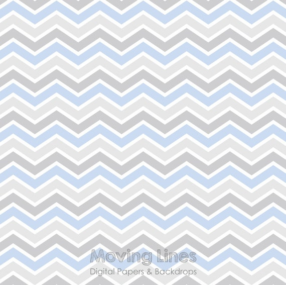 gray blue chevron digital backdrop newborn baby boy birthday