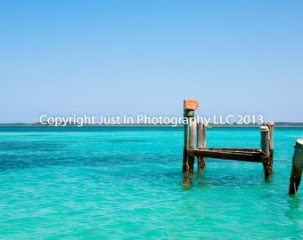 Caribbean, Bahamas, Tropical Print - Beach Art Photography - Ocean Photography - Blue Sky Print - Beach Decor, Home Decor, Beach House
