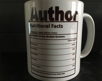 Author nutrition mug