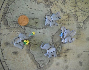 Playful Elephants magnets