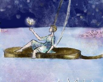 Drifting//Cello art//relaxing art