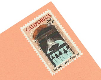 25 Unused California Stamps - 6c - Vintage 1969 - California Settlement - Unused - Quantity of 25