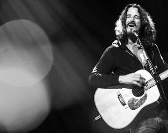 Chris Cornell portrait #3 - Soundgarden, Audioslave, Temple of the Dog, black & white photo, photograph fine art print