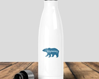 Water Bottle, Wyoming Water Bottle, Blue Bear Water Bottle, Wyoming Gear, 307 Gear, Bear Gear, Camping Gear, Hiking GEar,