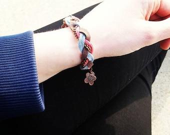 Women bracelet braided