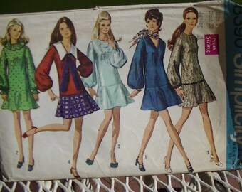 1969 Mini-Dress With Flared Skirt, 8390 Simplicity Pattern