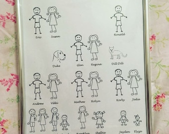 Our family print only