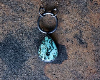 African Turquoise Jasper Copper Necklace
