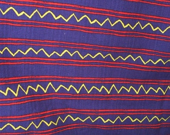 """124"""" x 44"""" Marcus Brothers Textiles Fabric Colorful Stripes and ZigZag"""
