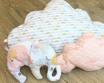 Stuffed elephant baby blanket