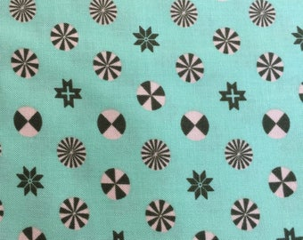 Holiday Homies by Tula Pink for Free Spirit Fabrics Peppermint Stars in Pine
