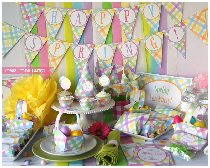 Easter Party Printables Tea Spring