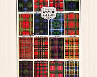 Scottish Tartans, a printable digital download, collage sheet no. 269.
