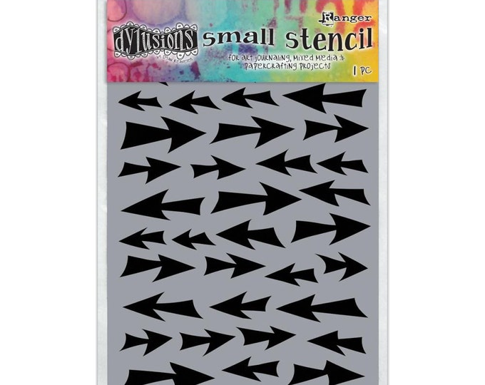 Ranger Dylusions DIRECTION Arrows Small 5x8 Stencil by Dyan Reaveley