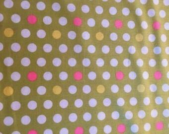 Free Spirit Fabric - Verna Mosquera - Savon Bouquet - Polka Dot - VM15 - Pear