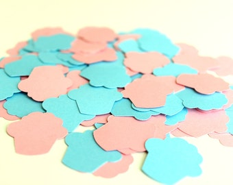 Cupcake Confetti - Gender Reveal Confetti - Gender Reveal Decor - Cupcake or Studmuffin - Baby Shower Confetti - Stud Muffin Confetti