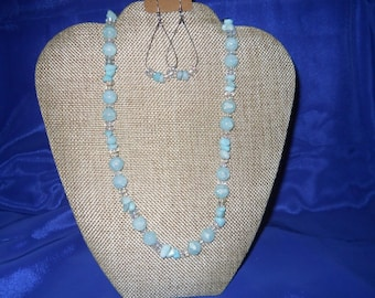 Handmade Light Blue Beaded Set