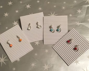 Handmade sterling silver and 3d miracle bead earrings