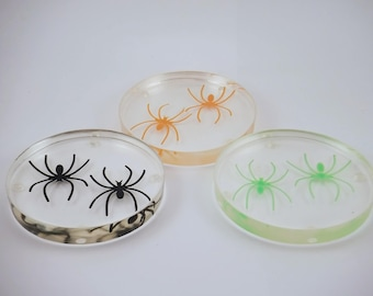 Spiders Handmade Resin Coaster FI0337
