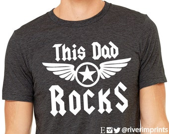 THIS DAD ROCKS, short sleeve tee shirt, This Dad Rocks graphic t-shirt