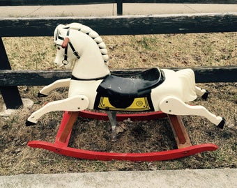 Hop Along Cassidy TOPPER Rocking Horse 1950s RICH TOYS-Local Pickup Only!