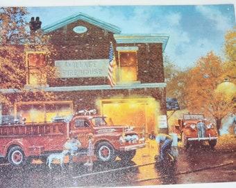 Vintage Metal Firehouse Sign