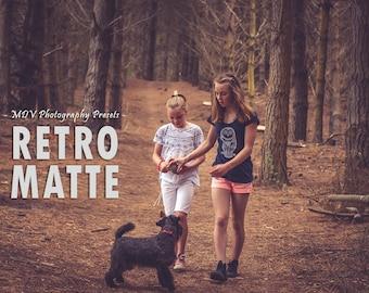 Retro Matte Lightroom Presets, Portrait, preset, vintage, color, travel, mystical, kids, family, lightroom, presets