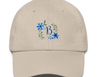 Letter on Cap, Personalized hat,   Initial  on hat,  Custom Name gift, personalized cap, monogram letter on cap, initials on cap