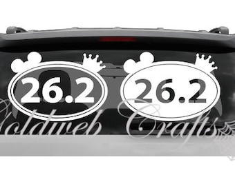 runDisney Inspired 26.2 Disney Marathon/Running Vinyl Car Decal
