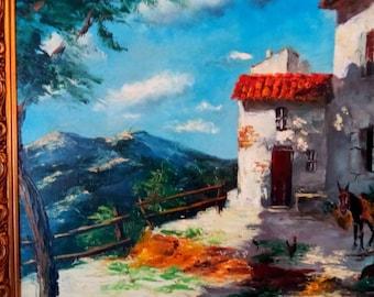Original 1890 Oil Painting by Peters