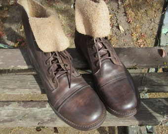 Bed Stu ~ Combat Boots ~ Cobbler Style ~ Bench Crafted  ~ Old Stock ~ Vintage ~ Mens Size 9 Medium ~ Womens Size 11 Medium