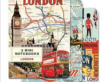 3 Mini London Notebooks set
