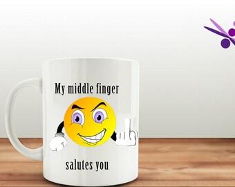 Finger mug |  valentines mug | adult humor | Gift for her |funny mug |joke mug |mug gift | naughty gift | novelty mug | gift for him
