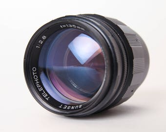 Vintage Sunset 135mm f/2.8 Telephoto Lens (for M42 screw mount SLR cameras)