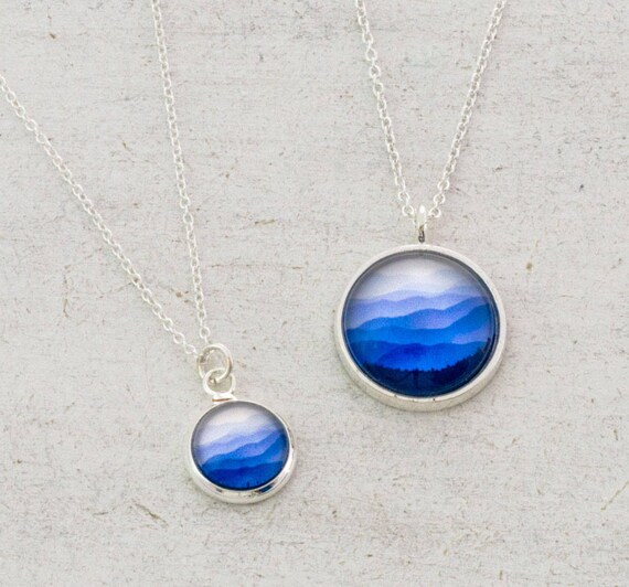 Ombre Blue Mountains Necklace